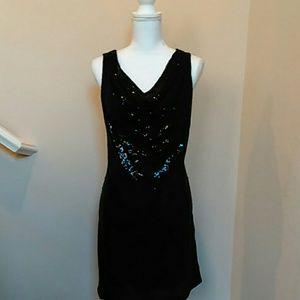 NWOT Micheal Kors Black Sequin Dress Sz L